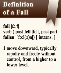 Definition of a Fall