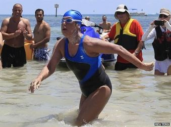 US swimmer Diana Nyad, 64, makes Cuba-Florida crossing