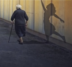 Old Lady and Shadow Ballerina