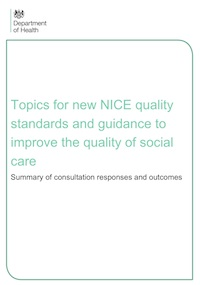 NICE Consultation on Social Care